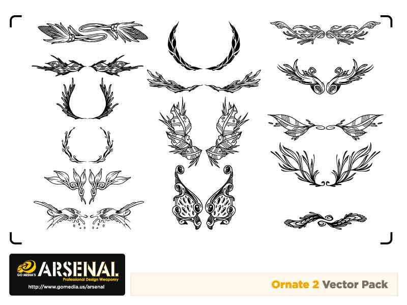 free vector Go media produced vector set15ornate trend